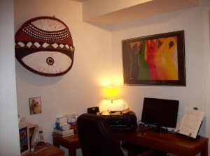 My African-inspired writer's room ~ before The Spirits found me.